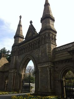 The entrance to Forest Hills Cemetery Boston Mass. Taken by Heather Pascarelli