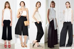 If it ain't broke, don't fix it, right? Many designers this season have decided to focus in on the basics. One of the most timeless combinations—white top and black pants—gets a twist with exaggerated shapes and new details. This is one trend that you can wear everyday.
