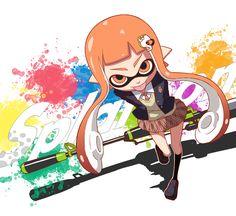 Inkling Girl - Splatoon via Gogiga Gagagigo