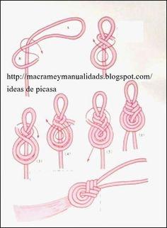 Macram 201 D 233 Co Brico Macram 233 Knoten und Streicher - Macrame Ideen Macrame Design, Macrame Art, Macrame Projects, Macrame Jewelry, Micro Macramé, Macrame Patterns, Crochet Patterns, Macrame Tutorial, Knots