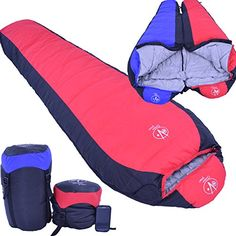 Outdoor Vitals 15 Degree Down Mummy Sleeping Bag, 3 Season, Backpacking, Lightweight, Hiking, Camping - 1 Year Limited Warranty (Red) Outdoor Vitals
