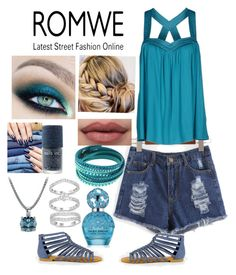 """Denim Dream"" by snowflakeunique ❤ liked on Polyvore featuring LIU•JO, Swarovski, Marc Jacobs, romwe and contestentry"