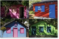 Casas no Quadrado de Trancoso. Bahia, Brazil.