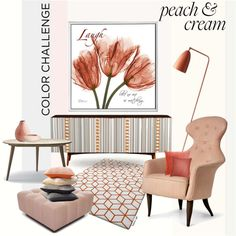 """""""Peach And Cream"""" by szaboesz on Polyvore"""