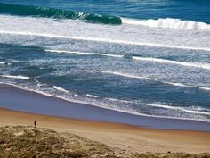 Surf beach in New Zealand