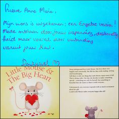 My English translation of Kleine Muis & Het Grote Hart has been printed, and yesterday I got a personally signed copy from author #NadineWitteman with lovely compliments!! #translator #vertaler #kleinemuisenhetgrotehart #littlemouseandthebigheart