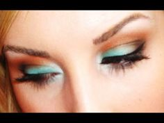 Teal & Coral Summer Makeup