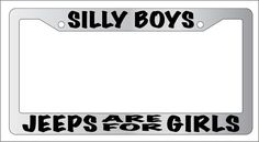 Chrome License Plate Frame Yes Boys This Is My 4x4 Pink Auto Accessory Novelty