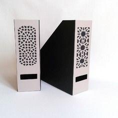 Porte revues moucharabieh - noir et gris