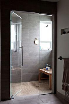 Walk-in shower.  Bench instead of a built in?  Window?