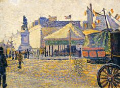 ۩۩ Painting the Town ۩۩ city, town, village house art - Paul Signac, Place Clichy, 1888