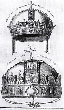 János Fülöp Binder, The Holy Crown of Hungary, Hungary History, Greek Mythology Gods, Byzantine Gold, Royal Crowns, Folk Fashion, Wood Engraving, Crown Jewels, Female Images, Coat Of Arms