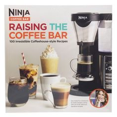 Raising the Coffee Bar 100 Irresistible Coffehouse Style Recipes Ninja *** To view further for this item, visit the image link. Ninja Coffee Maker, Ninja Coffee Bar Recipes, Ninja Recipes, Cappuccino Maker, Cappuccino Machine, Coffee Love, Best Coffee, Coffe Bar, Coffee Shops