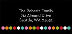 Address Labels: Dotty And Nice, Square, Black