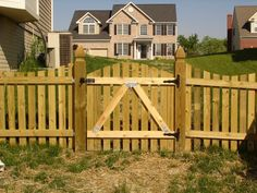 Make installing a wooden fence gate simple by consulting the experts at Frederick Fence. Read 8 tips to build a wood fence gate and contact us for your quote! Building A Wooden Gate, Wooden Fence Gate, Picket Fence Panels, Fence Gate Design, Diy Fence, Fence Gates, Fence Ideas, Patio Ideas, Garden Ideas