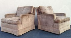 MiD CENTURY DOWN FILLED CLUB LOUNGE CHAIRS BY SCHOONBECK COMPANY #SCHOONBECKCOMPANY