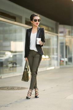 Olive Love :: Canvas pants & Celine Micro - Wendys Lookbook