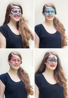 Mask like this would totally work under my glasses...or over them if I can make them slightly more stiff.