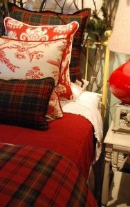 11-18 fall bed 3                        Love tartan and red toille