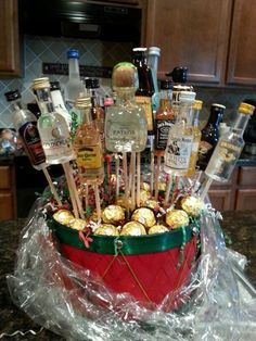 The 22 Best Ideas for Liquor Gift Basket Ideas . Hi there Jill: when we do gift baskets, we typically […] Alcohol Gift Baskets, Liquor Gift Baskets, Best Gift Baskets, Themed Gift Baskets, Alcohol Gifts, Christmas Gift Baskets, Diy Christmas Gifts, Basket Gift, Basket Crafts