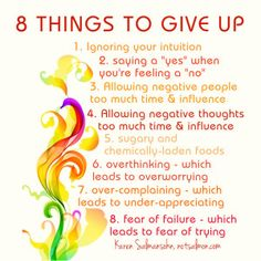 8 Things To Give Up to Increase Your Inner Happiness - @notsalmon #happiness