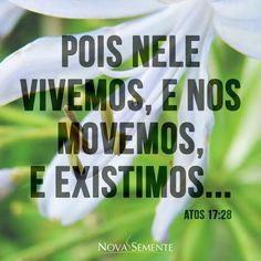 Nova Semente - Frases da Bíblia - Versículos -Deus - Atos 17:28
