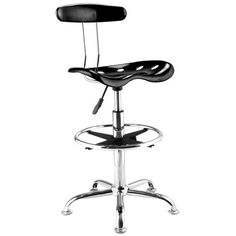 Adjustable-Bar-Stools-ABS-Tractor-Seat-Chrome-Kitchen-Drafting-Chair-Black-1PC