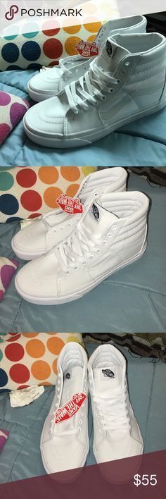 0ac91931d2 Brand new all white Hi Vans Brand new with tags and box. All white.