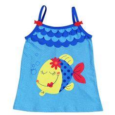 Bóboli Colors Under The Sea - Vestido de tirantes para la playa / Girls beach dress  www.kidsandchic.com/girls-beach-dress-boboli-colors-under-the-sea.html  #beach #summer #kids #kidsfashion #trendychildren #verano #playa #niñas #modainfantil #ropainfantil