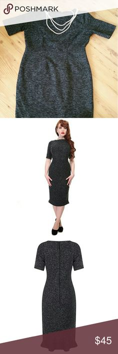 """Retro Tweed Midi Collectif Vintage Dress Lovely vintage style dress that looks like it comes straight from  the set of Mad Men. Never worn! New with tags! Lying flat, from pit to pit: 21"""",  waist: 19"""" , length: 45"""". There is a slight mermaid-like  flair around the bottom back which makes it easier to walk in. Fabric is thick and dense (perfect for fall or winter). Please note: size is a UK size (fits like an American 14/16). This dress is the Mena pencil style. Collectif Dresses Midi"""