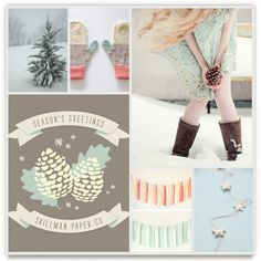 pine cones + pastel Inspiration Board, curated by Jessica at Minted