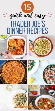 These quick and easy Trader Joe's recipes make the perfect dinner for two. Trader Joe's always makes dinnertime so easy and these Trader Joe's recipes get dinner on the table faster than takeout. #mealsfortwo #traderjoesrecipes #traderjoesmeals #dinnerfortwo #midliferambler