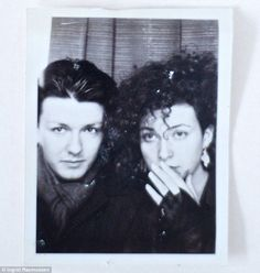 Ricky Gervais with his long time girlfriend Jane Fallon (80s)