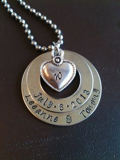 Metal Hand Stamped Jewelry Mother's Charm by Faithfulimpressions1, $41.00