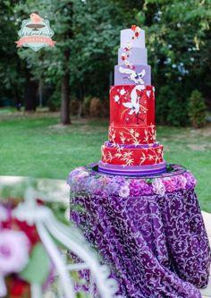 Chinese wedding cake by pavlo - http://cakesdecor.com/cakes/221991-chinese-wedding-cake