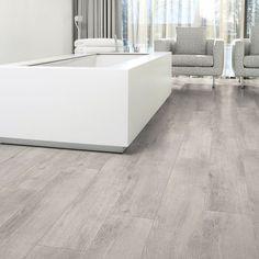 Aqua-Step Wood4V PVC laminaat - Oak Grey #AquaStep #Waterproof #Laminaat #Badkamer #Eiken #Grijs