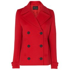 Check out my fun collection of Trendy Fashion for Fall! Boots, coats, jackets, heels & more and. Modest Outfits, Classy Outfits, Classy Clothes, Blazer Dress, I Dress, Red Wool Coat, Double Breasted Coat, Business Fashion, Cute Fashion