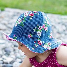 Sun hat pattern for the whole family! This sewing pattern is for nb-XXL adult sizes. actually there are 10 sizes available. There is also an added doll pattern to match all the pretty little girls who wear it. Also a strap option available.