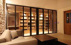 Cave à vins réalisé pour une villa à Ramatuelle. Architecte : Labo architecte