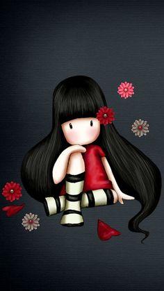 Change your iPhone wallpaper - garden desing - Garden Decor Illustration Mignonne, Cute Illustration, Cute Images, Cute Pictures, Cartoon Mignon, Art Fantaisiste, Art Mignon, Cute Cartoon Girl, Whimsical Art