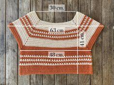 Crochet Crop Top, Crochet Blouse, Easy Crochet, Crochet Bikini, Crochet Coat, Crochet Clothes, Crochet Designs, Crochet Patterns, Crop Top Pattern