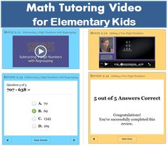 Math Tutoring Video for elementary kids - a series of iBooks