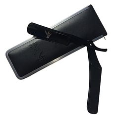 The Best STRAIGHT RAZOR ~ Shave Ready Quality Stainless Steel ~ Will Never Rust - Black on Black Handle and Foldable Blade for a Sleek Professional Look