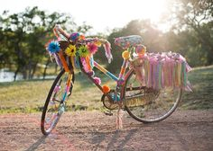 Every girl's dream bike! We made this for our Happy Happens photo shoot!