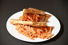 The kids will love this Spaghetti & Meatball Grilled Cheese!