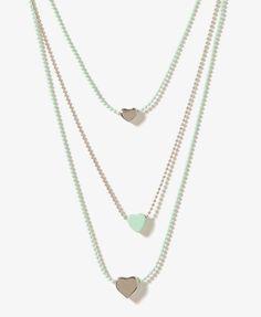Mini Heart Trio Necklace | FOREVER21 - 1000049270