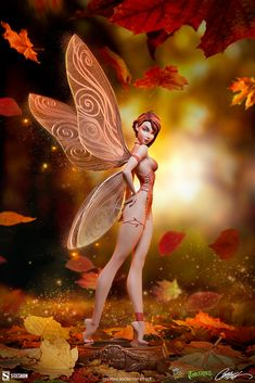 J Scott Campbell Tinkerbell (Fall Variant) Statue | Sideshow Collectibles Sideshow Toys, Sideshow Collectibles, Scott Cambell, Fairytale Fantasies, Anime Figures, The Little Mermaid, Tinkerbell, Alice In Wonderland, Fairy Tales