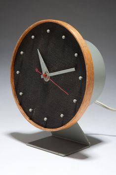 "George Nelson ""Masonite"" 4767 Mid-Century Table Howard Miller Clock | Clocks | Decophobia | 20th Century Design"