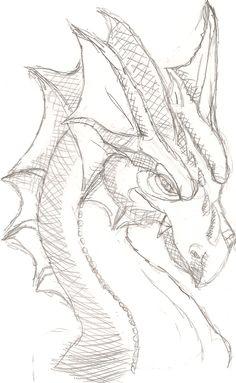 Dragon head 2 by ~Lil-Wolf-Girl on deviantART
