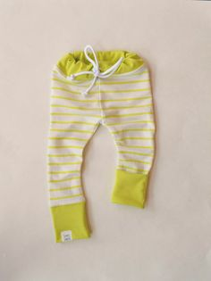Citrus Green Striped Drawstring Skinny Sweats / by SimpleSawyer